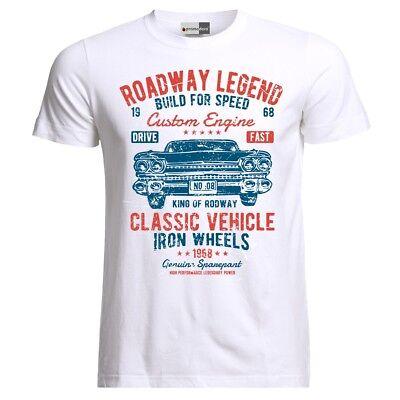 Retro Racing Hot Rod Rockabilly Hot Rat Classic Muscle Cars Vintage T-Shirt