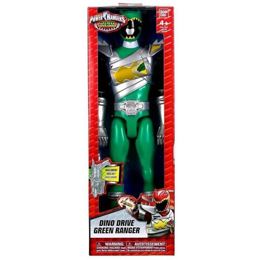 POWER RANGERS DINO DRIVE verde Ranger Figura 30 cm DINO SUPER CARICA 43129
