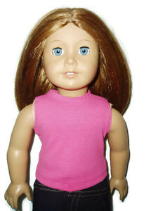 """Hot Pink Tank Top T-Shirt 18"""" Doll Clothes fits American Girl Dolls"""