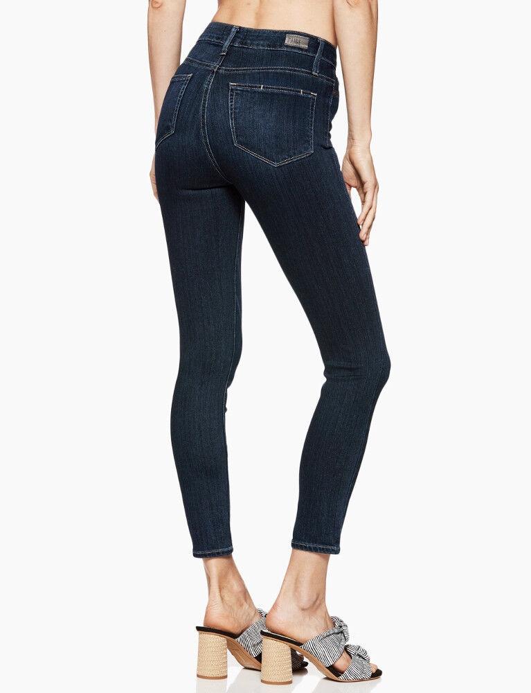 NEW PAIGE Transcend Margot Crop Super High Rise Ultra Skinny Jeans 30 Sawtelle