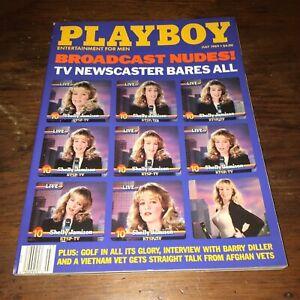 💎 PLAYBOY MAGAZINE JUL 1989 TV NEWSCASTER BARES ALL SHELLY