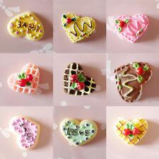5X DIY Cabochons Crafts Strawberry Heart Love Cake Resin Flatback Scrapbooking