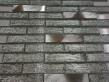 glasmosaik metallmosaik mosaik metall aluminium effekt fliese bad dusche küche