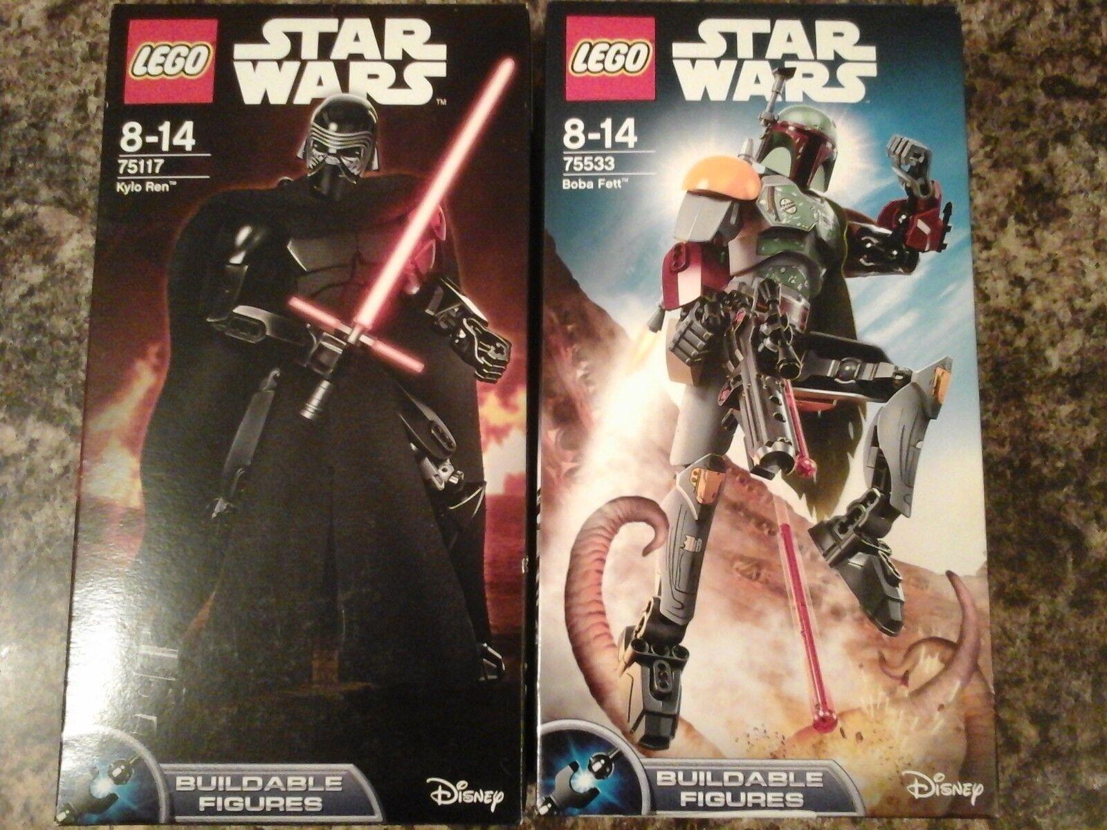 LEGO Star Wars Boba Fett - Kylo Ren Buildable Figures 75533 75117 NEW