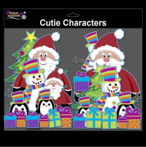 Noël personnage Décorations Vintage PASSEMENTERIE de Noël Décorations De fenêtres cartes