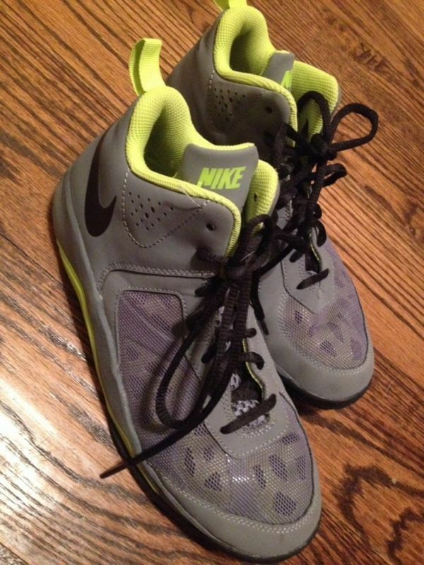 Nike Dual Fusion Mid Top Basketball Shoes Men athletic ankle Boys  sport 6.5