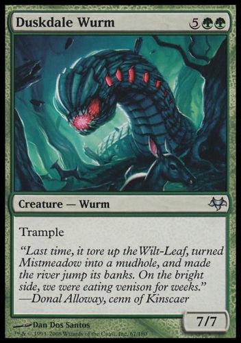 4x Wurm di Valle Oscura Duskdale Wurm MTG MAGIC ET It