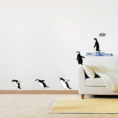 Penguin Family Wall Stickers Decal Home DIY Mural Paper Decor Kids Bedroom