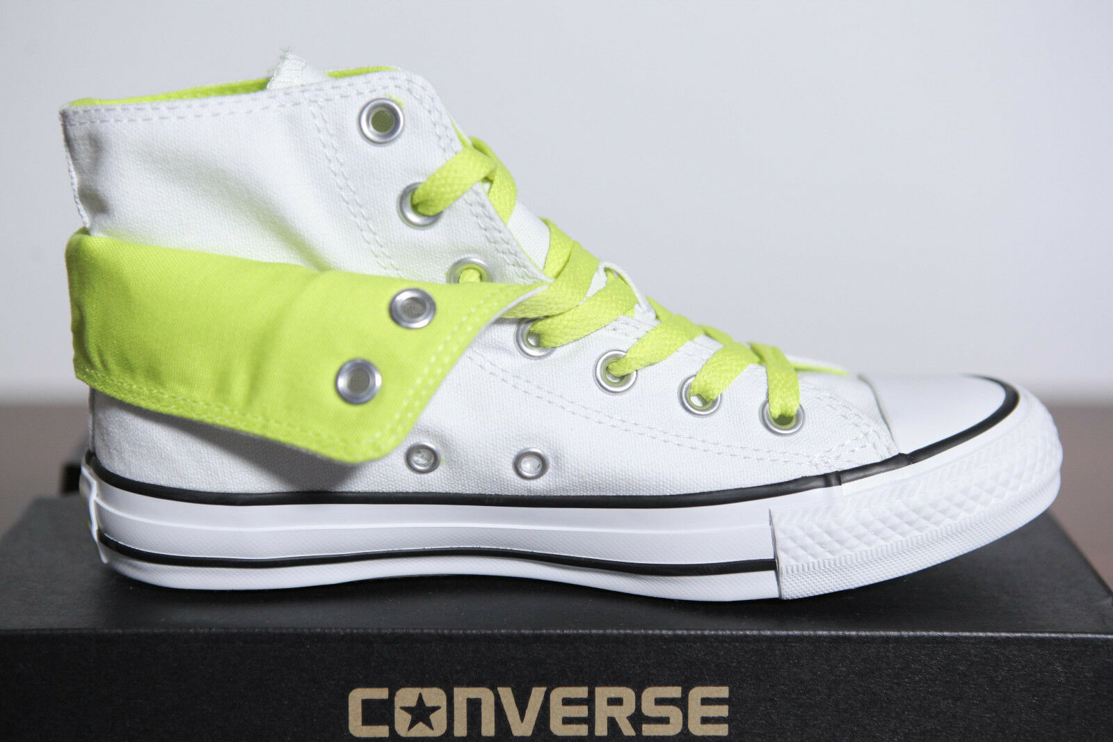 Neu All Star Converse Chucks Hi Two Fold Sneaker weiß 542590c Gr.39 UK 6 2-14