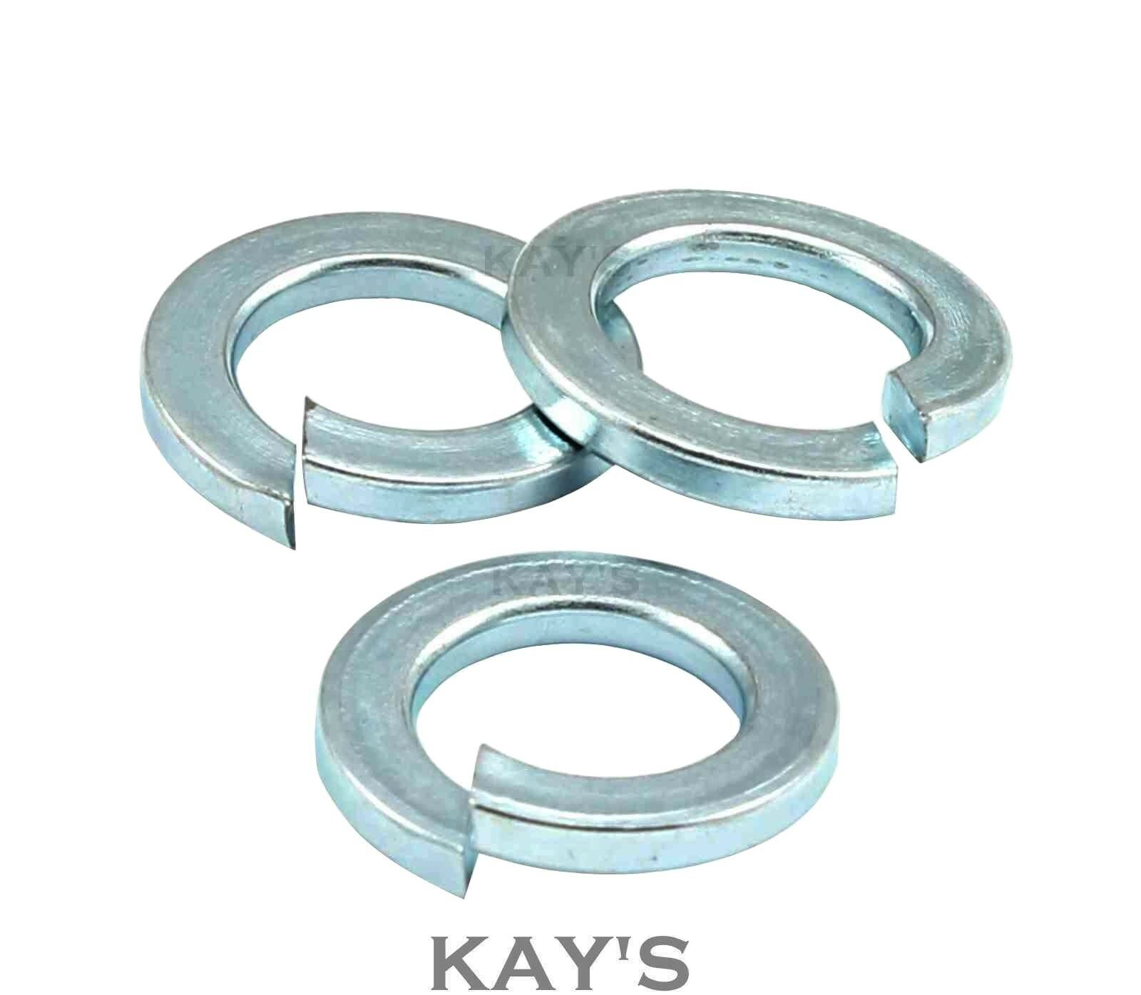 IMPERIAL SPRING WASHERS ZINC PLATED RECTANGULAR COIL 1/4 5/16 3/8 7/16 1/2 5/8