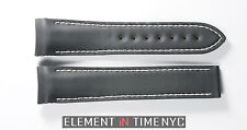 Omega Un-Worn OEM Black Rubberized Leather Strap For Planet Ocean 20x18mm NOS