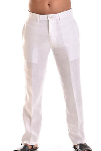 Mens-Bohio-100-Linen-White-Flat-Front-Casual-Dress-Pants-32-44-MLP50