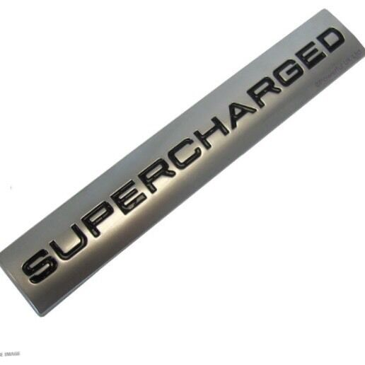 "NEW GENUINE RANGE ROVER ""SUPERCHARGED"" BADGE*REAR TAILGATE BADGE EMBLEM SPORT"