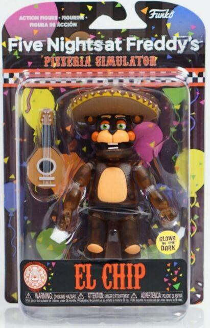 "FUNKO FREDDY PIZZERIA SIMULATOR ROCKSTAR FOXY EL CHIP 5/"" ACTION FIGURE SET OF 5"