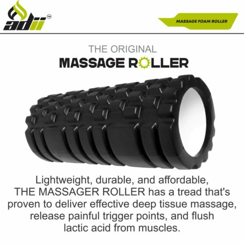 Foam Roller muscle Massage Deep Tissue Trigger Bump Carry Bag Yoga Gym Exercise