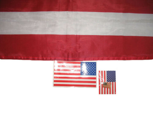 3x5 USA American NYLON Flag 3/'x5/' Banner Indoor//Outdoor Clips Sticker Pin