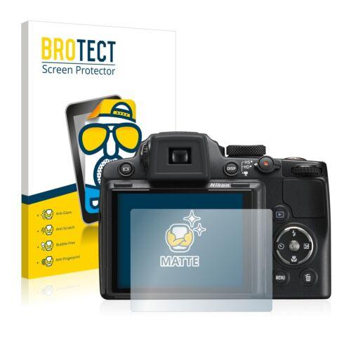 2x protector de pantalla mate Nikon Coolpix p500 lámina protectora protector de pantalla Lámina