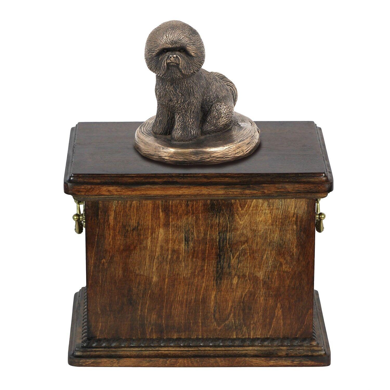 Bichon Frise - urna di legno con l'immagine di un cane Art Dog IT