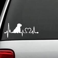 K1070 Bichon Frise Heartbeat© Lifeline Monitor Dog Decal Sticker