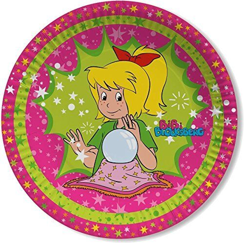 Bibi Blocksberg Party Teller Kindergeburtstag Pappteller Tisch Dekoration Deko