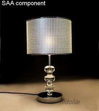 MORDEN K9 CRYSTAL DIAMOND BASE BEDSIDE TABLE LAMP DESK LIGHT E27 SAA 2.2Kg 45CM