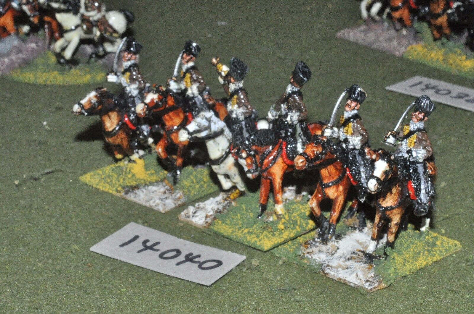 25mm napoleonic   prussian - hussars 6 cavalry - cav (14040)