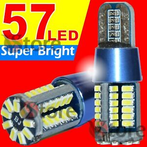 2-Veilleuses-LED-T10-ampoules-57-smd-Canbus-5W-BLANC-ANTI-ERREUR-Lampe-12V-24V