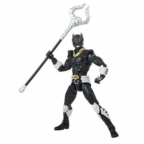 "In Stock! Power Rangers Legacy In Space Psycho Black Ranger 6/"" Action Figure"