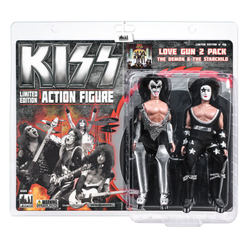 KISS 8 Inch Action Figure Two-Packs: The Demon & Starchild Love Gun