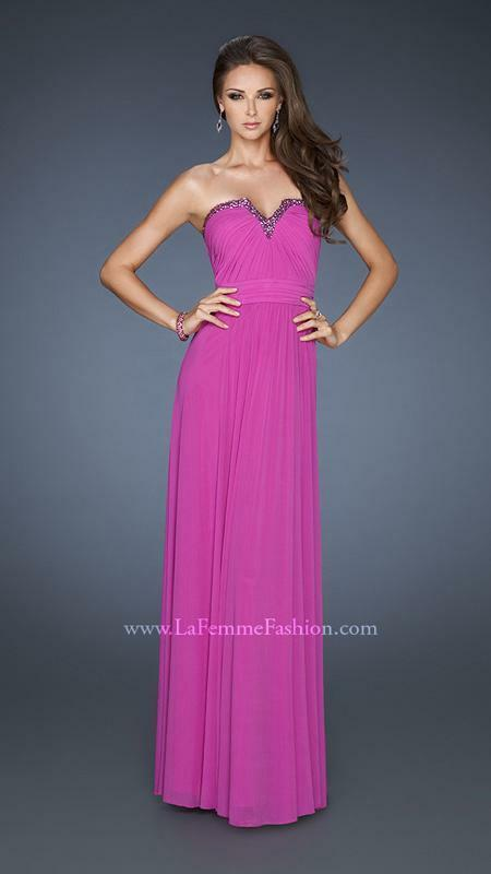 398 NWT MAGENTA LA FEMME PROM PAGEAN FORMAL DRESS GOWN SIZE 6