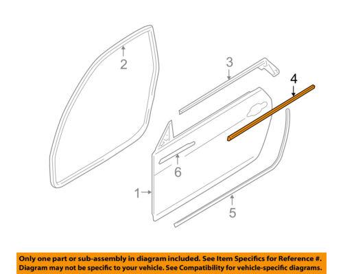 BMW OEM 328i Door-Window Sweep Belt Molding Felt Weatherstrip Right 51337119080