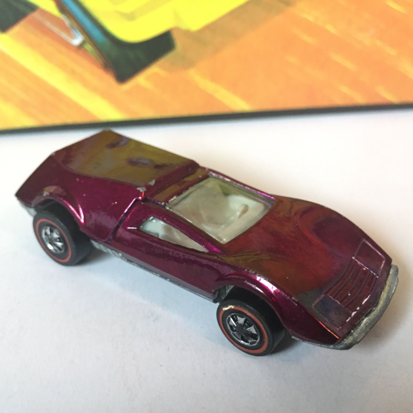 Original Hot Wheels Redline TRI-BABY in MAGENTA   WOW NICE CAR