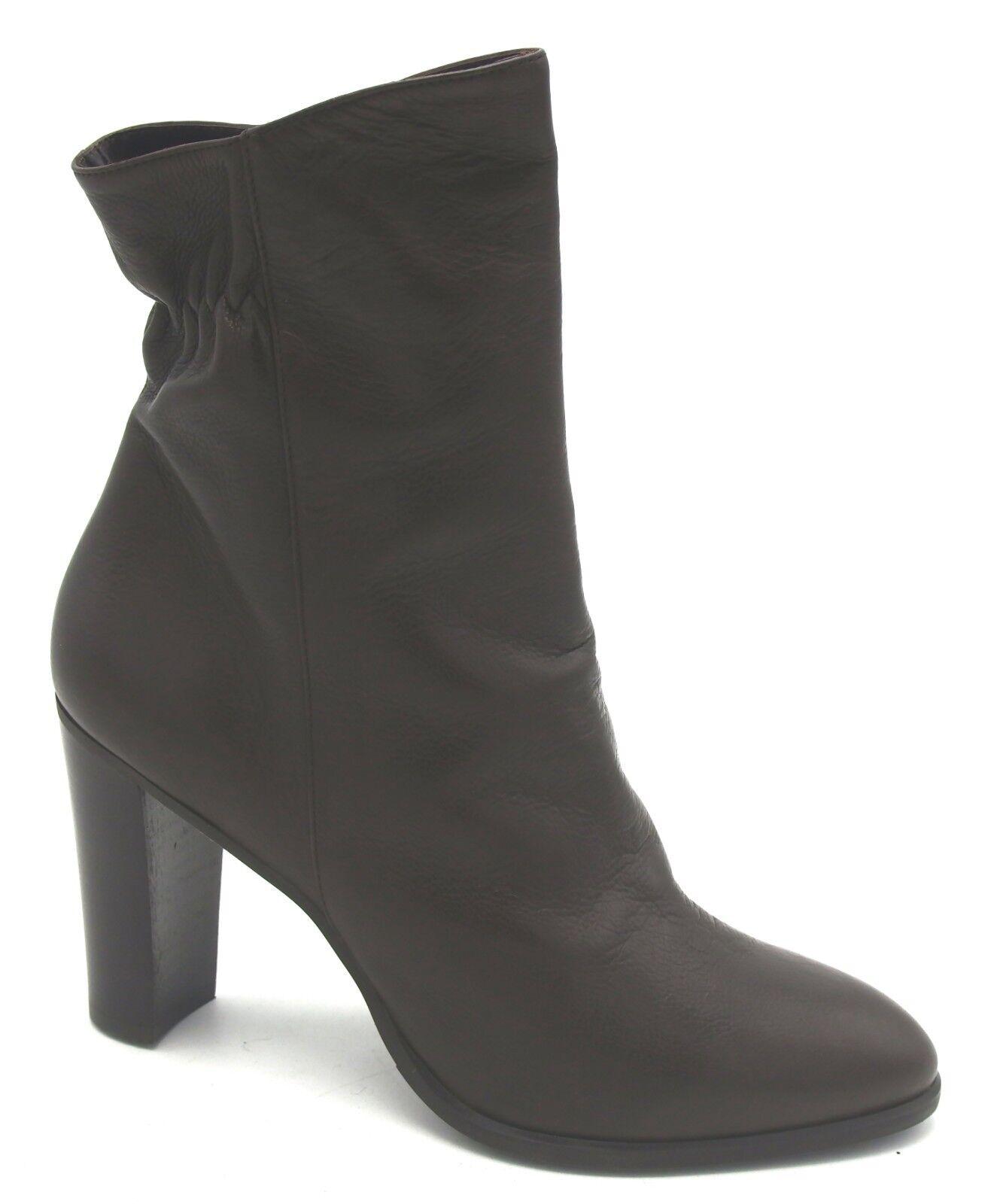 J7548 New Women's Vince Camuto Jessa Dark Brown Leather Bootie 10 M