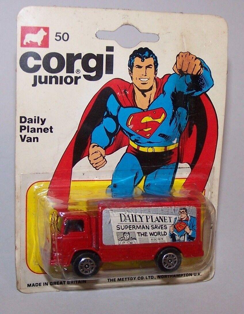 Superhomme Daily Planet Van Diecast  camion CORGI JUNIORS 1976  gros pas cher