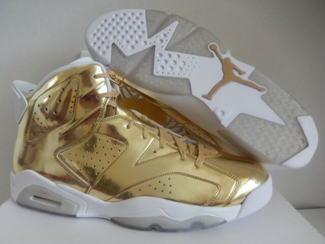 best service 0ae07 b6de6 Nike Air Jordan VI 6 Retro P1nnacle Pinnacle Metallic Gold 854271-730 Sz 17