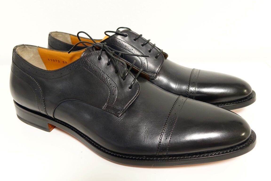 SANTONI Schuhe Herrenschuhe Businessschuhe - GR. 10 (44) - NEU ORIGINAL    | Qualitätskönigin