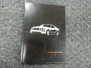 ford mustang owner owners manual user guide gt