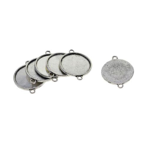 100 12//20mm Cabochon Pendant Tray Base DIY Necklace Bracelet Jewelry Finding