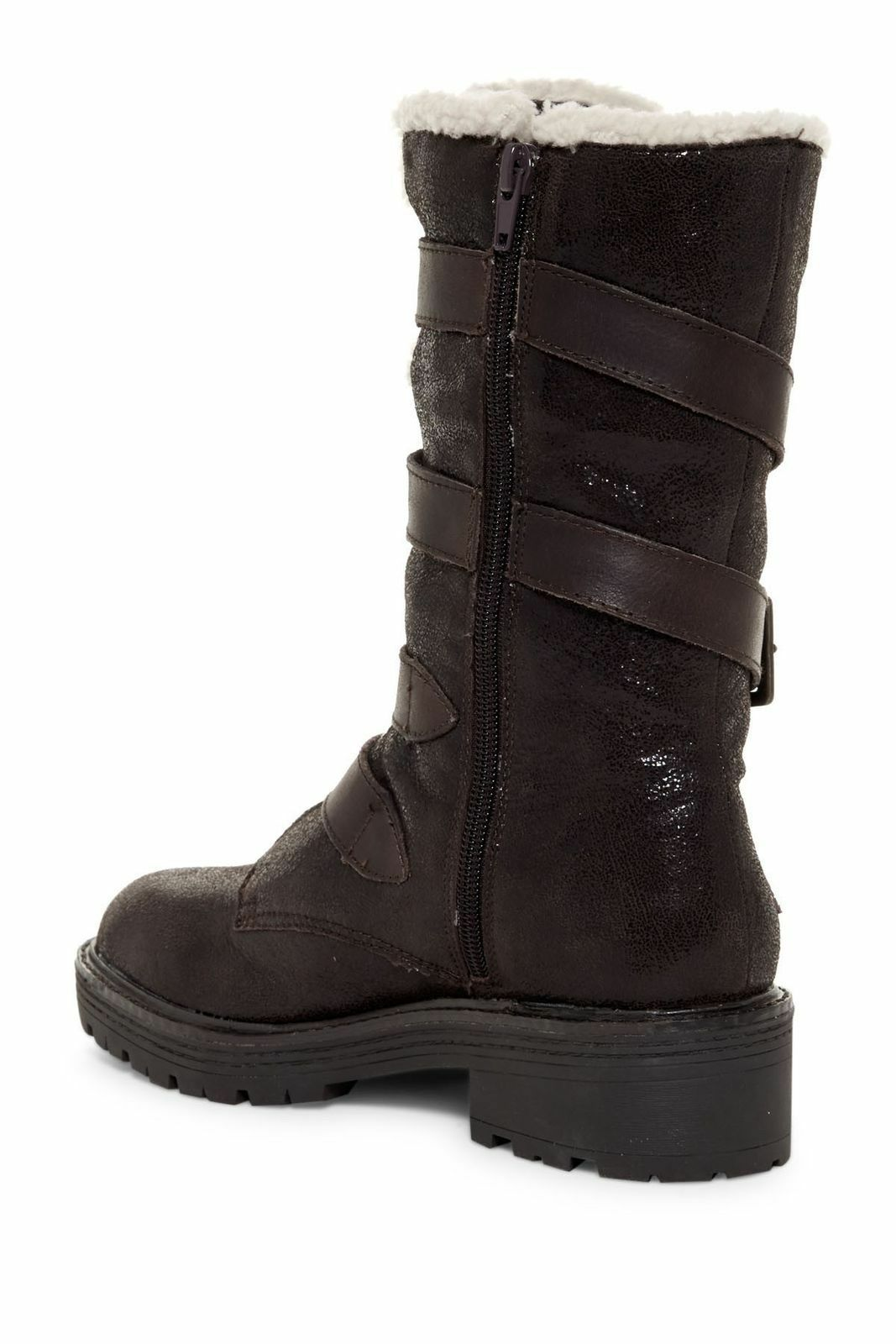 New Kelsi Dagger Brooklyn Womens Moore Buckle Boots Size 7 Chocolate Brown