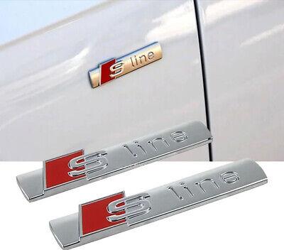 AUDI S SLINE S-LINE A2 A3 A4 A5 A6 TT Badge Stemma Fregio Logo Emblema LATERALE