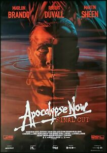 "APOCALYPSE NOW Original Movie Poster 12x27/"" Italian BRANDO COPPOLA RARE"