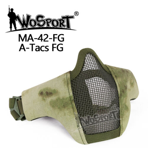 Tactical Protection Gear Mesh Half Face Mask Outdoor War Game Airsoft Paintball