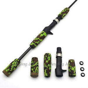 Camo EVA Spinning Casting Fishing Rod Handle Split for Rod Building Repair Grips