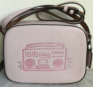 NWT-Coach-X-Keith-Haring-BoomBox-Camera-Bag-Crossbody-28661-295-Ice-Pink