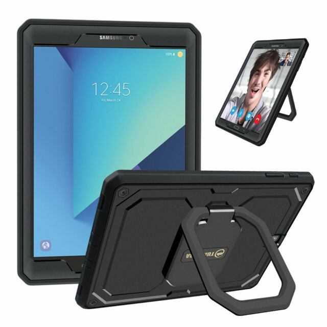 new product 4121a 2fd6b For Samsung Galaxy Tab S3 9.7 inch 2017 Tablet Smart Wake Case Grip Stand  Cover