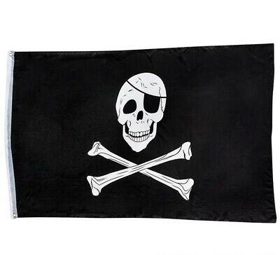 LOT OF 3 PIRATE FLAG 3 X 5 FEET SKULL AND CROSSBONES CROSS SWORDS JOLLY ROGER
