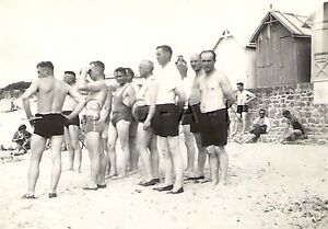 WWII-German-RP-Army-Soldier-Semi-Nude-Gay-Interest-Beach-House-Swim