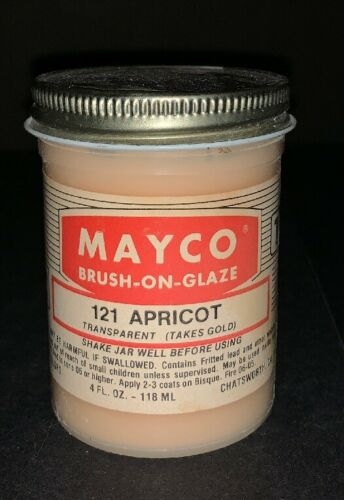 Mayco Discontinued RARE Brush-On Glaze Transparent cone 06 Variety Colors 4 oz.