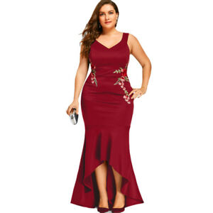 9686ae2b60d Plus Size Women s Evening Dress Sleeveless Party Mermaid Engagement ...
