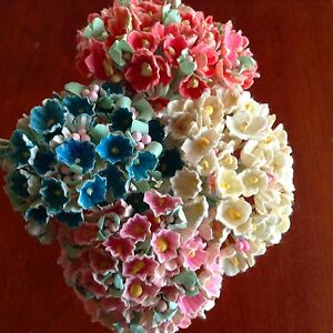 Vintage-Millinery-Flowers-Forget-Me-Not-for-Doll-Pink-or-Blue-or-Yellow-Kawaii